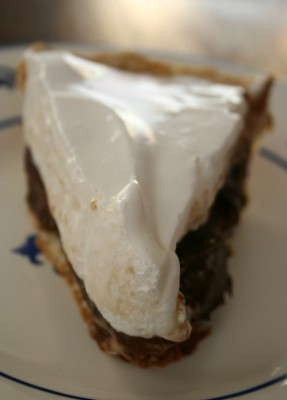 chocolate-marshmallow pie from Westville
