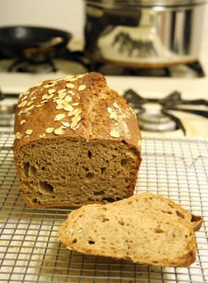 100% whole wheat no-knead bread