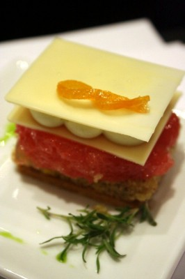Grapefruit-tarragon millefeuille