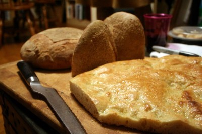 focaccia and other breads
