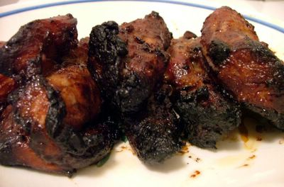 cooked char siu meat (Chinese roast pork)