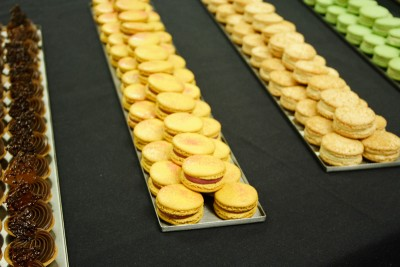 Mini pastries infused with tea and macarons, Damien Herrgott, Bosie Tea Parlor