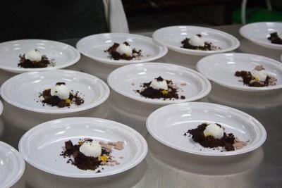 Lavendar meringue with cocoa sorbet and orange, Angela Pinkerton, Eleven Madison Park