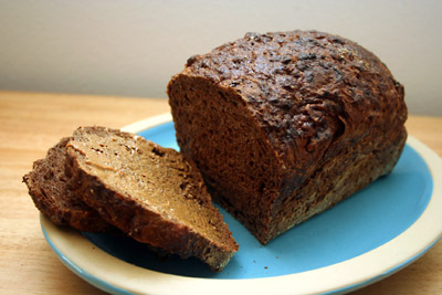 chocolate no-knead bread
