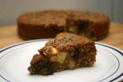 chunky chocolate-apple coffee cake