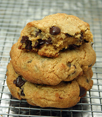 homemade Levain chocolate chip cookies