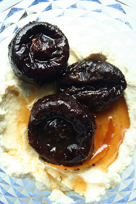 stewed prunes with orange zest