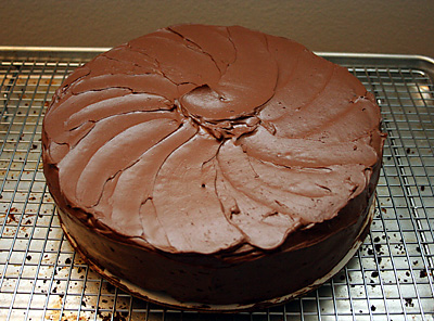 finished chocolate cake