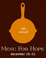 Menu for Hope runs from Dec 10-21