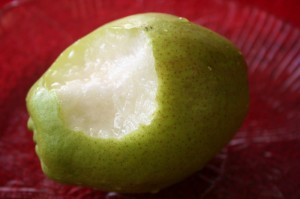 juicy fragrant pear